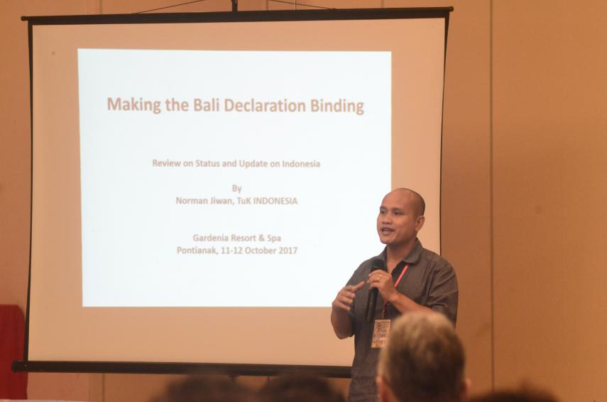 Making the Bali Declaration Binding