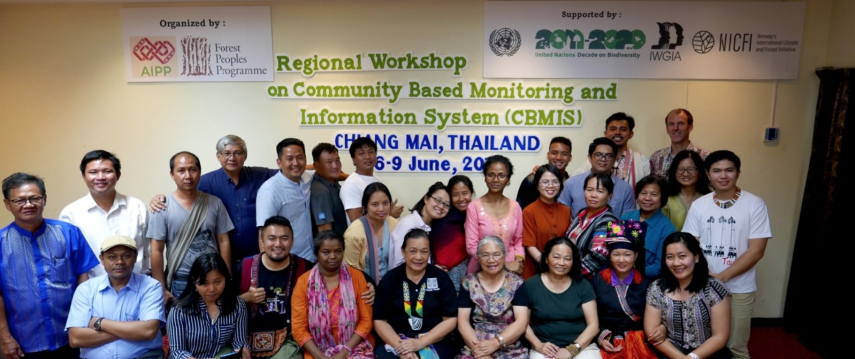 Participants of the regional CBMIS workshop in Chiang Mai, Thailand. Photo: Mr. Nitol Chakma, AIPP